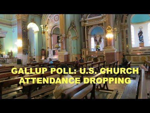 GALLUP POLL U S  CHURCH ATTENDANCE DROPPING