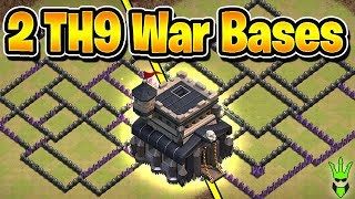 TWO ANTI 3 STAR TH9 BASES! - Anti Witches Anti Hogs TH9 War Bases! - Clash of Clans - Base Build