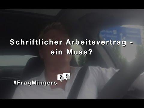 Schriftlicher Arbeitsvertrag - ein Muss? #FragMingers