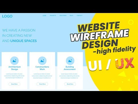 Wireframe | How to design high fidelity Website Wireframe | Ui/Ux Tutorial | Bangla Tutorial thumbnail