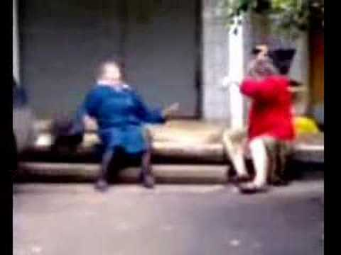 Hangbag fighting old ladies