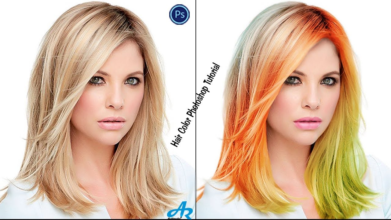 How Change Hair Color In Photoshop Cc 2017photoshop Hair And Lip