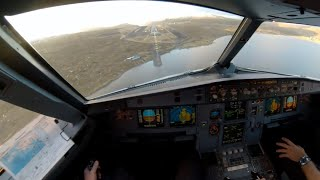 Why I fly ! A Manual Airbus Approach from the Cockpit - Amazing view into the Faroe Islands