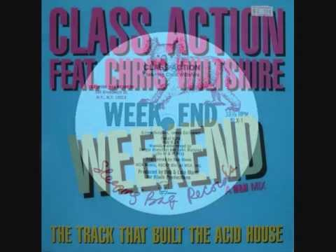 "CLASS ACTION feat CHRIS WILTSHIRE. ""Weekend"". 1983. 12"" Larry Levan Mix."