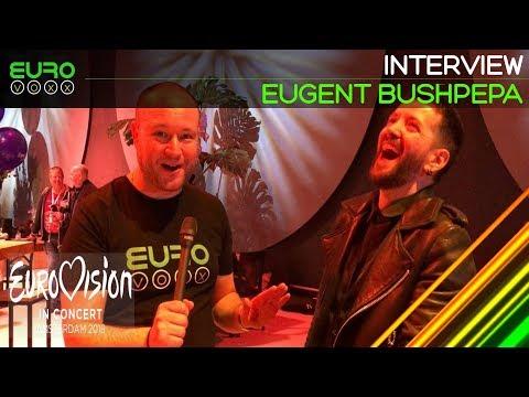 Eugent Bushpepa interview (Albania Eurovision 2018)   Eurovision in Concert   Eurovoxx