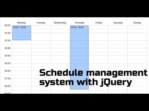 Create Schedule Management System With JQuery
