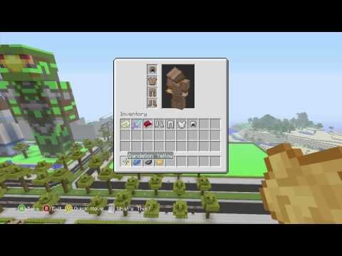 how to dye leather armour in minecraft xbox 360 edition