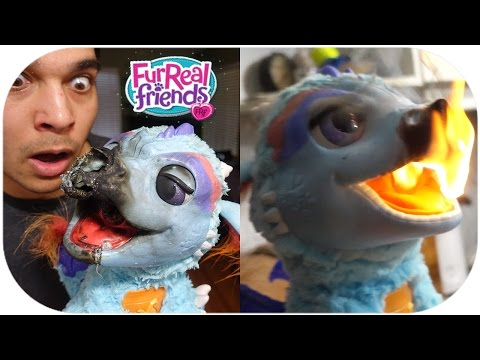 IT CAUGHT ON FIRE! FurReal Friends Torch, My Blazin Dragon TOY REVIEW!
