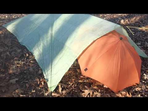 High Wind/Winter Tarp Pitch (Mountain Laurel Designs Flat Tarp)