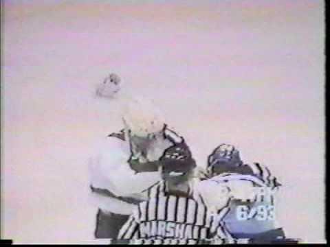 Matt Johnson Vs Sudbury Wolves 4/6/93