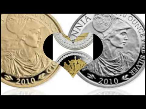 cold and  silver coin