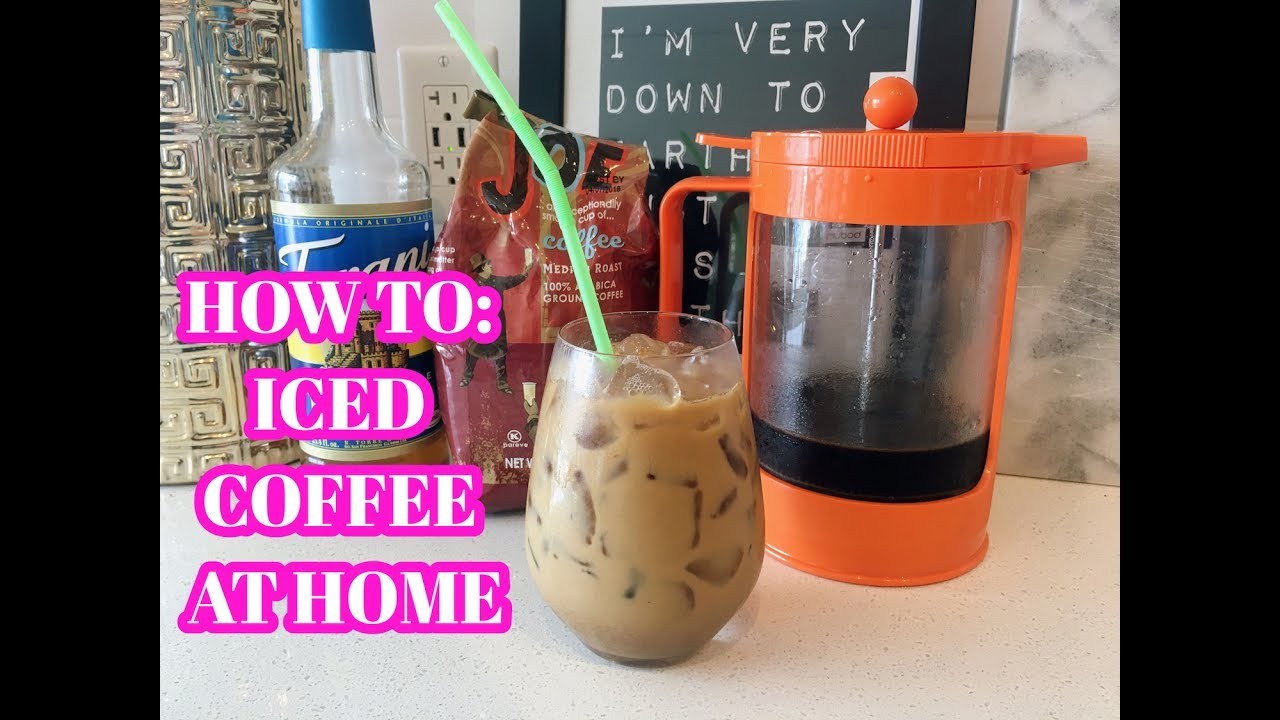 How To Iced Coffee At Home Cold Brew Recipe Youtube