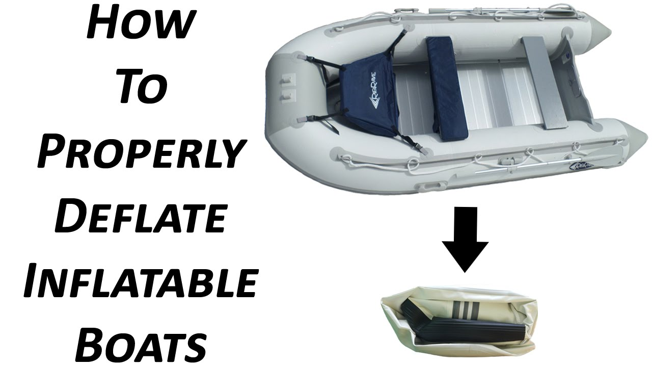 How to Deflate and Store Inflatable Boats