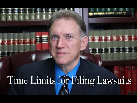 Time Limit Between an Accident and Filing a Lawsuit