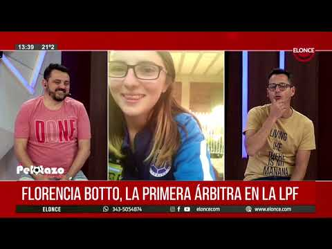 Flor Botto, la primera árbitra en la Primera del fútbol paranaense