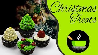 DIY Christmas Cupcakes | 4 Cute and Easy Christmas Cupcakes | Decorative Christmas Cupcakes Recipes