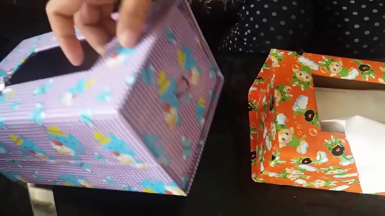 TUTORIAL   Membuat Kotak Tisu dari Kardus Bekas - YouTube e74f3866c2