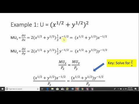 Consumer Utility Functions: Calculating the Elasticity of Substitution