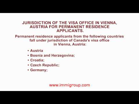 Jurisdiction of the visa office in Vienna, Austria for permanent residence applicants.