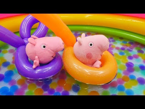 🐷Spielspaß mit Peppa Wutz - 🏊Ein neues #Schwimmbad für #PeppaPig🏊 - Video für Kinder mit Puppen🐷