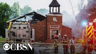 Black church fires in Louisiana: Officials give update after arresting a suspect, live stream