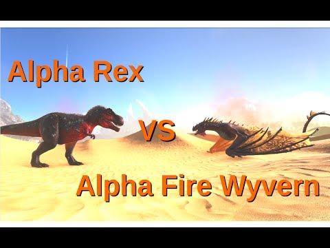 Alpha Rex Vs Alpha Fire Wyvern || ARK: Survival Evolved || Cantex
