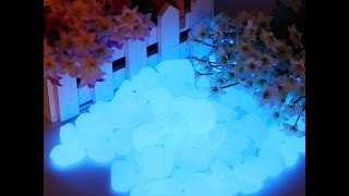 Luminous SkyBlue Pebbles Stones glow in the Dark decoration garden ornaments Fluorescent Stones