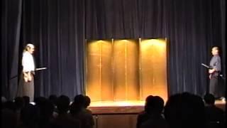 真剣にて二人組太刀居合 抜打ち試斬付き - Two Person Iai and Cutting with Matsushita Sensei and his Sempai Fukaya Sensei 純野静流 検索動画 9