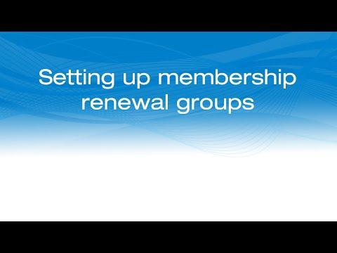 Setting up group renewals in iMIS 20-100