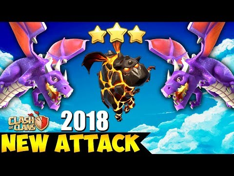 Lava + Balloon + Dragons: LABADRA NEW TH9 STRONG WAR ATTACK STRATEGY 2018 | Clash of Clans