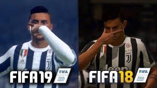 COMPARAÇÃO INICIAL DO FIFA 19 X FIFA 18!!! SERÁ QUE EVOLUIU MUITO MESMO??