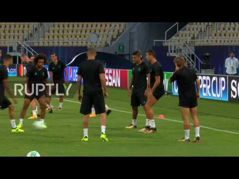 Macedonia: Ronaldo trains with Real Madrid ahead of Super Cup final