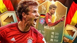 IS HE WORTH 500K?! 94 TOTS FLASHBACK MULLER PLAYER REVIEW! FIFA 19 Ultimate Team