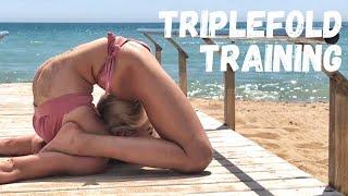 Triplefold Trainig. Contortion