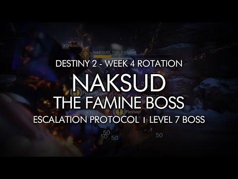 Destiny 2 - Naksud, The Famine - Escalation Protocol Level 7 Completion (Week 4)