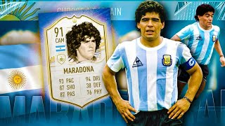 TRIBUT DIEGO MARADONA IN FIFA 21!!! FACEM SPECTACOL CU ICON 91 MARADONA IN ULTIMATE TEAM