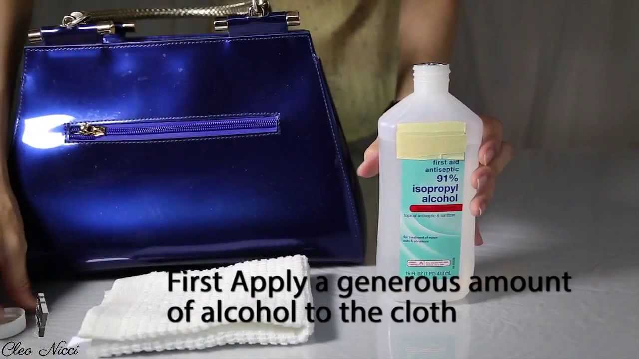How To Remove Hair Dye Stain From Leather Sofa Sleeper Air Beds Clean And Maintain Patent Or Vernis Bags Cleo Nicci