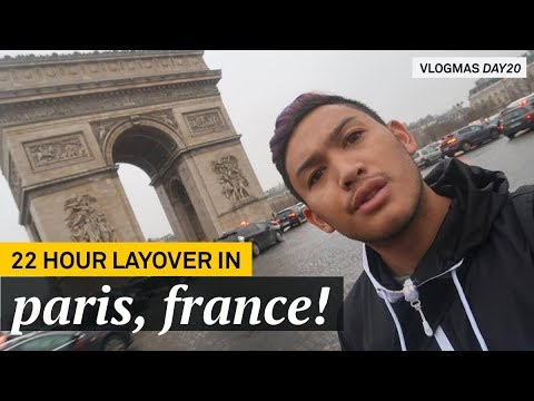 22 Hour Layover In Paris!!! - VLOGMAS 2017 DAY 21 - RomeAroundTheWorld