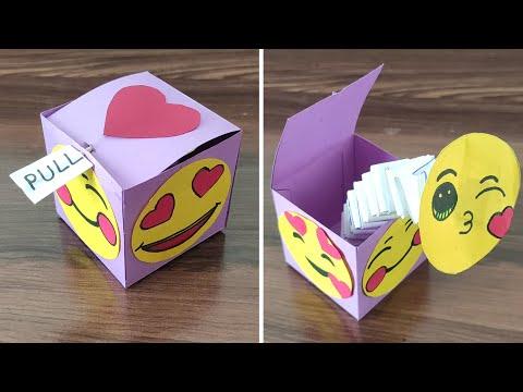 DIY – POP OUT Surprise Box   Surprise Gift Box Idea   POP UP Box   Pull Out Gift Box   Pop Up Box