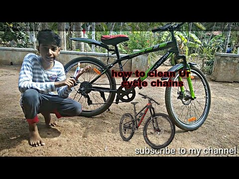 How clean your cycle chains (easy) Malayalam