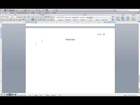 Setting Up Your Works Cited Page in MLA Format (Word on a MacBook Air)