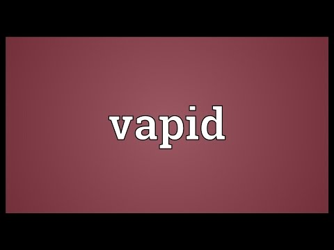 Vapid Meaning