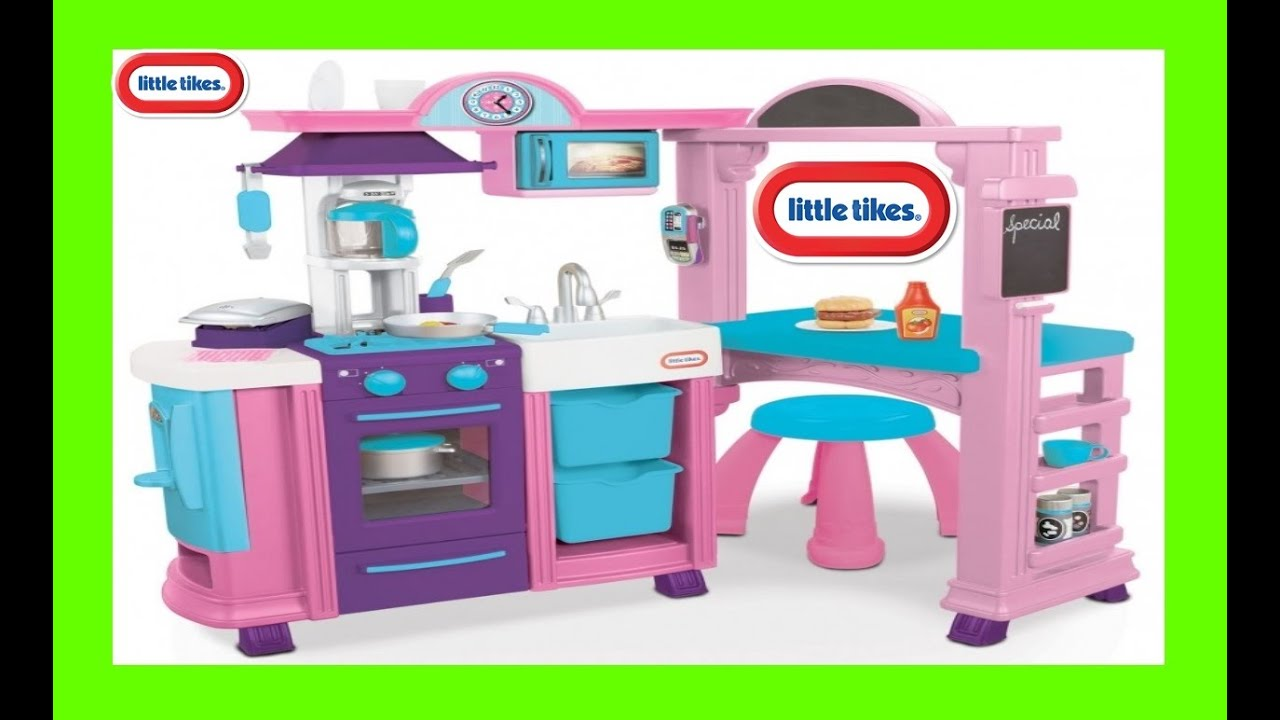 Lovely Little Tikes Kitchen Playset Little Tikes Kitchen And Restaurant Playset  Deluxe Kitchen Playset   YouTube