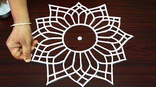 Amazing tricky rangoli designs for beginners - best kolam designs - simple unique muggulu 2018