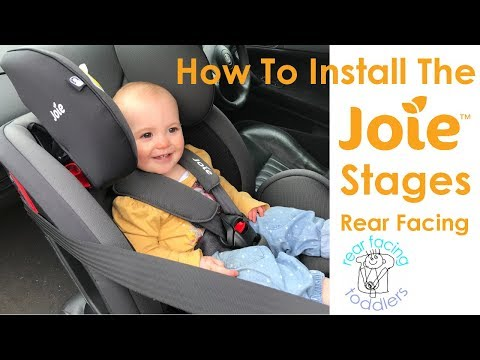 Joie Stages Rear Facing Installation | Includes Alternative Method For Short Seat Belts