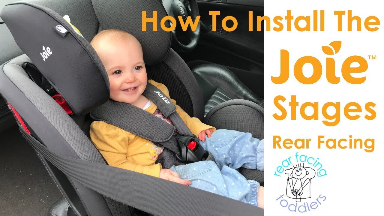 Joie Stages Rear Facing Installation Includes Alternative Method For Short Seat Belts Youtube