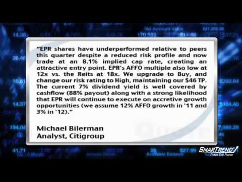 Analyst Insight: Citigroup Upgraded Entertainment Properties Trust To Buy And Reduced 2010