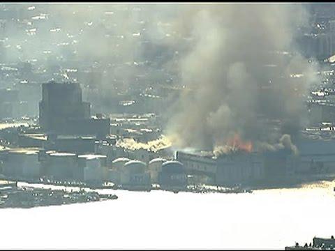Raw: Big Fire at Storage Facility in Brooklyn