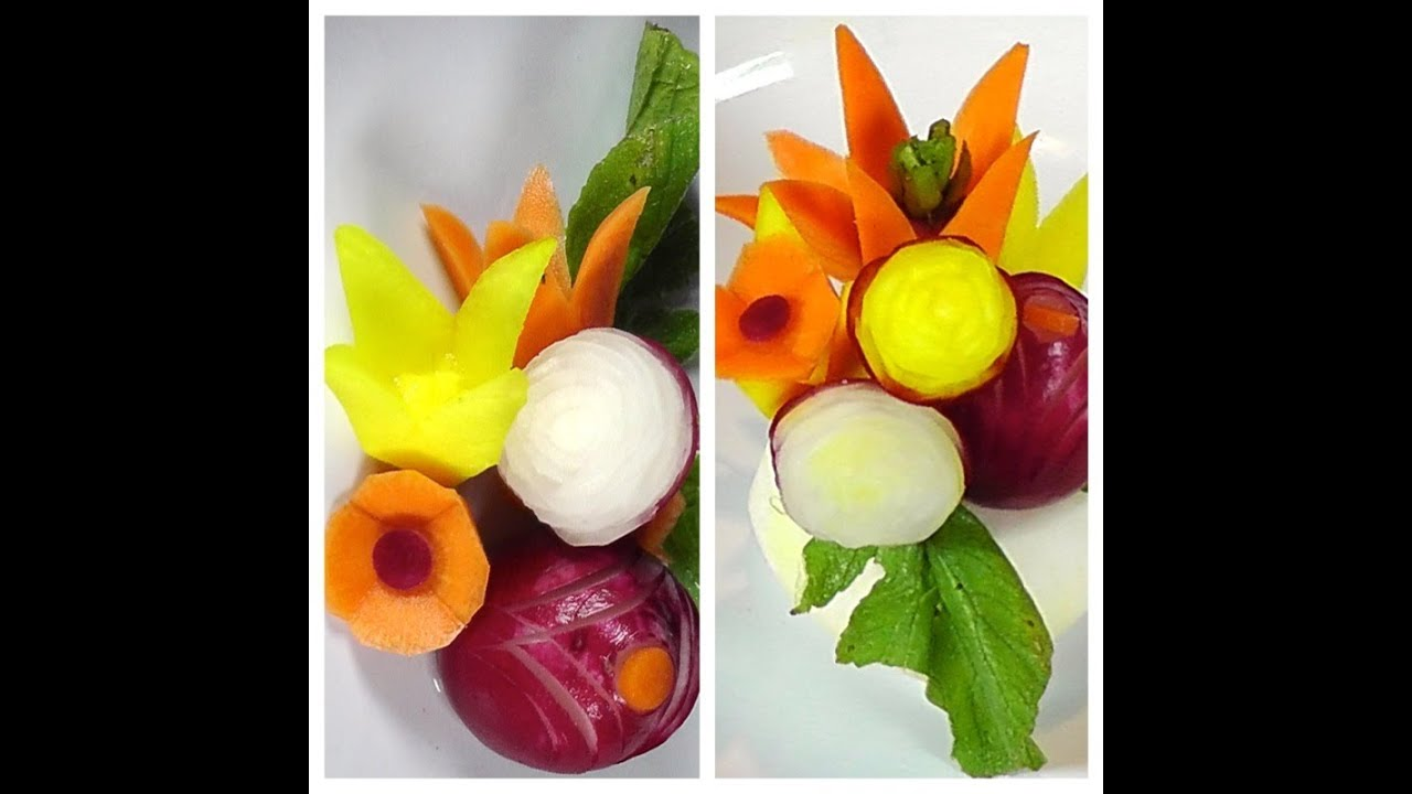 How to make vegetable garnish food decoration plating for Art of food decoration