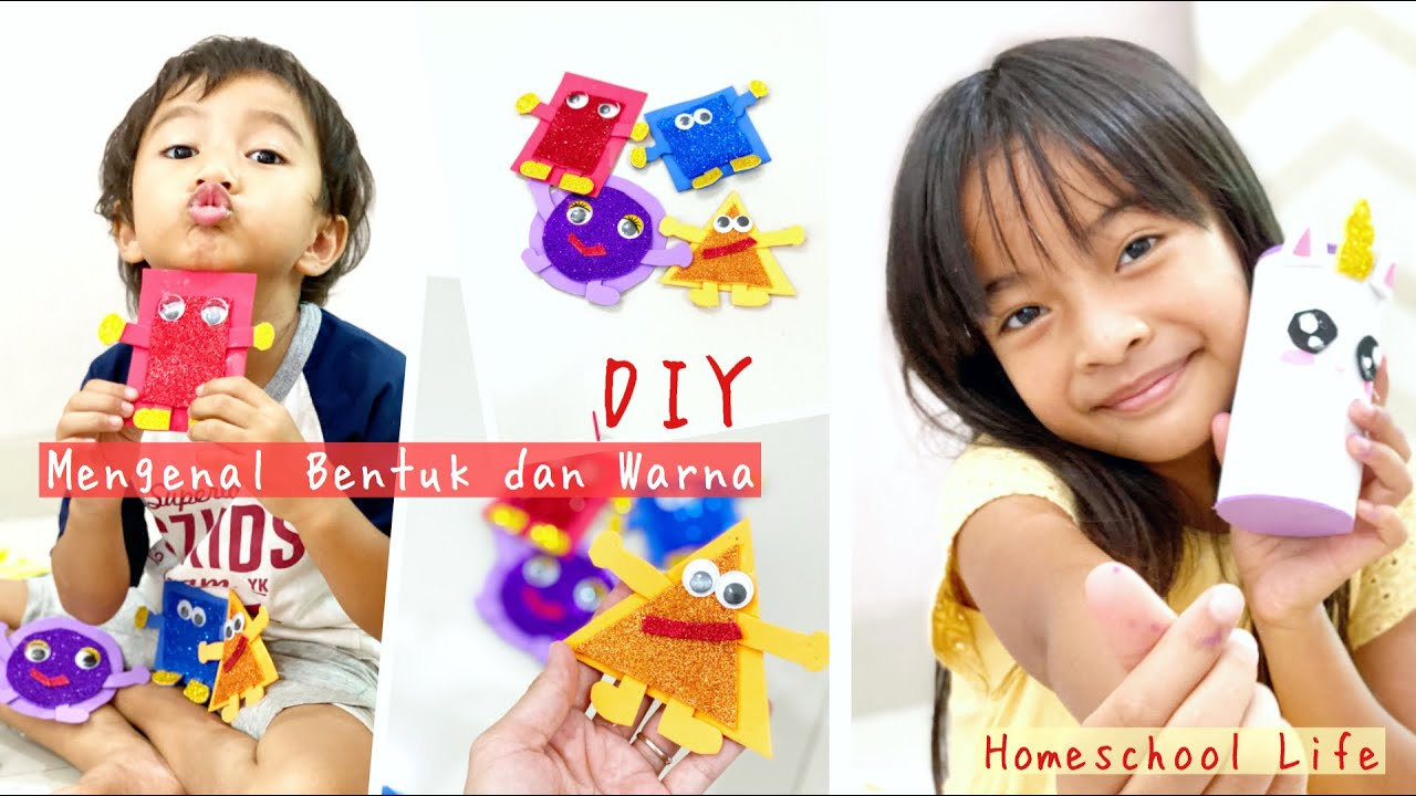 Homeschool Life | Project dengan Eva dan Glitter Foam | DIY Kotak Pensil Unicorn